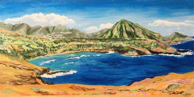 Hanauma Bay from Koko Head 10×20