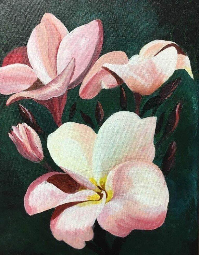 Pink Plumeria 11×14