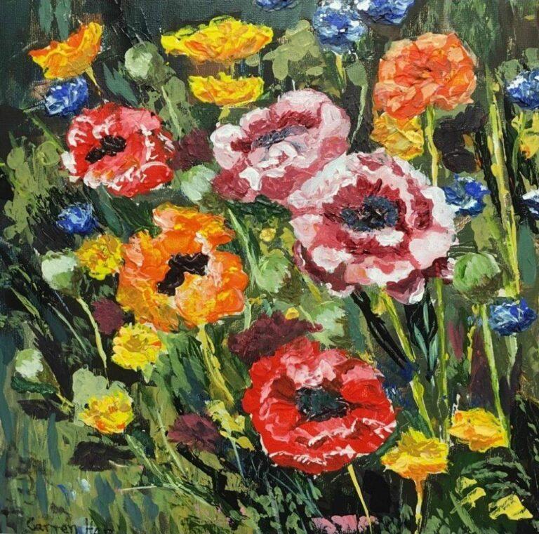 Russian Flowers 12×12