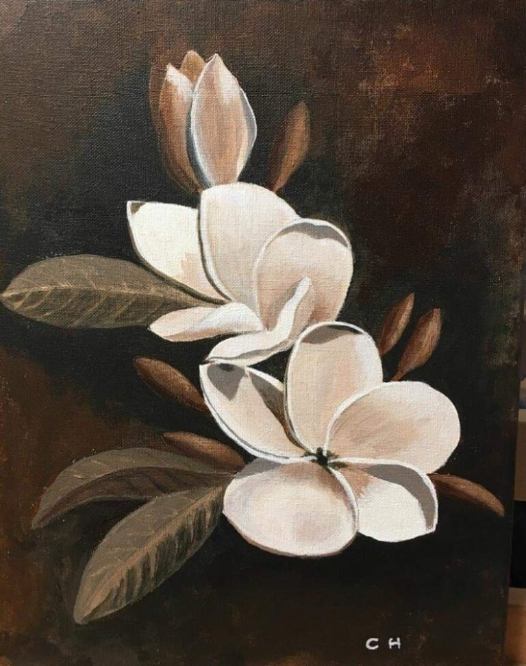 Sepia Plumeria 11×14