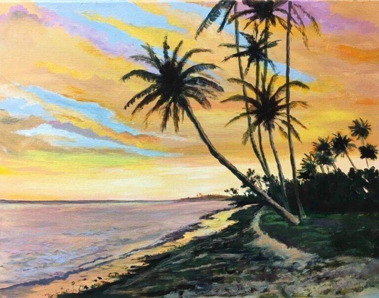 Sunset Picnic 16×20
