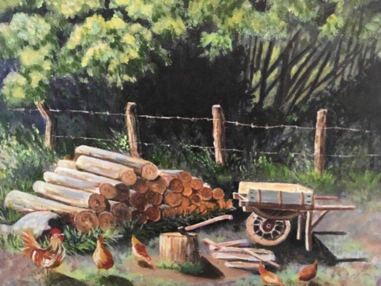 The Old Woodpile 16×20