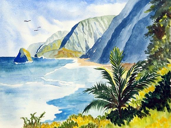 Hawaiian Watercolor Paintings
