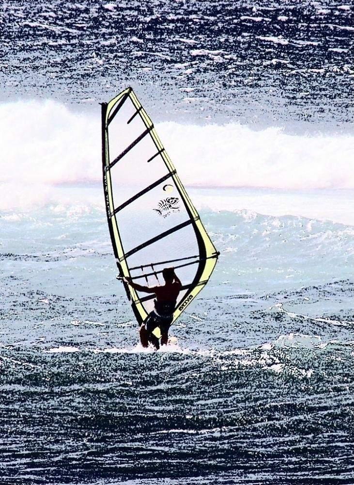 Windsurfer Alone